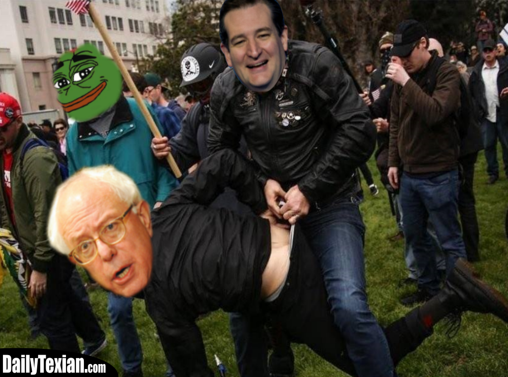 Lion Ted Cruz Missiles Crazy Bernie